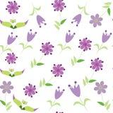 Modello senza cuciture floreale con il fiore lilla. Seamles Fotografia Stock Libera da Diritti