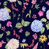 Modello senza cuciture floreale d'annata dell'acquerello Fotografia Stock Libera da Diritti