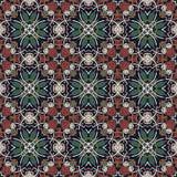 Modello senza cuciture floreale d'annata della geometria Fotografia Stock