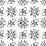 Modello senza cuciture floreale d'annata per la vostra progettazione Fotografia Stock Libera da Diritti