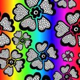 Modello senza cuciture floreale dell'arcobaleno con la pendenza Illustrazione di vettore Immagini Stock