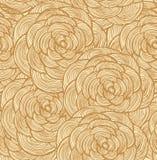 Modello senza cuciture floreale della tappezzeria Fondo decorativo del pizzo con le rose Immagine Stock Libera da Diritti