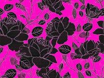 Modello senza cuciture floreale di Rosa immagini stock libere da diritti