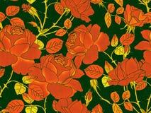 Modello senza cuciture floreale di Rosa fotografia stock libera da diritti