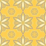 Modello senza cuciture floreale giallo Fondo con progettazione del fiore Immagini Stock Libere da Diritti