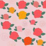 Modello senza cuciture floreale luminoso nei colori d'annata, Fotografie Stock Libere da Diritti