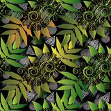 Modello senza cuciture floreale moderno Fondo geometrico astratto IL Immagine Stock