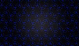 modello senza cuciture floreale Nero-blu Fotografie Stock