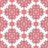 Modello senza cuciture floreale rosso di vettore per fondo royalty illustrazione gratis