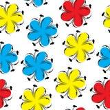 Modello senza cuciture floreale sveglio, fondo floreale di estate luminosa Struttura del fiore Immagine Stock Libera da Diritti