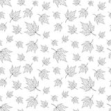 Modello senza cuciture, fondo con le foglie di acero royalty illustrazione gratis