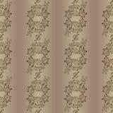 Modello senza cuciture foral ed ornamentale di scarabocchio Illustrazione Vettoriale