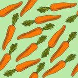 Modello senza cuciture fresco con le carote illustrazione vettoriale