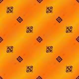 Modello senza cuciture geometrico arancio di Ikat Fotografie Stock Libere da Diritti