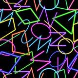 Modello senza cuciture geometrico astratto, colori al neon immagini stock libere da diritti