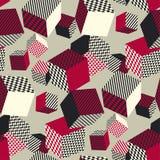 Modello senza cuciture geometrico astratto 3d La geometria di illusione del volume Immagini Stock