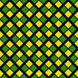 Modello senza cuciture geometrico astratto nei colori verdi, gialli e neri Fotografia Stock Libera da Diritti