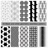 modello senza cuciture geometrico in bianco e nero 10 Immagine Stock Libera da Diritti
