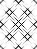 Modello senza cuciture geometrico in bianco e nero con il cerchio, astratto Immagini Stock Libere da Diritti