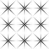 Modello senza cuciture geometrico in bianco e nero con il cerchio, astratto Fotografia Stock