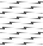 Modello senza cuciture geometrico in bianco e nero con il cerchio, astratto Immagine Stock Libera da Diritti