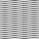 Modello senza cuciture geometrico in bianco e nero con il cerchio, astratto Immagini Stock