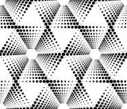 Modello senza cuciture geometrico in bianco e nero con il cerchio, astratto illustrazione di stock