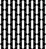 Modello senza cuciture geometrico in bianco e nero con il triangolo, abstra illustrazione vettoriale