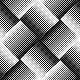 Modello senza cuciture geometrico in bianco e nero con la linea, b astratta illustrazione vettoriale