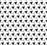 Modello senza cuciture geometrico in bianco e nero con la linea e il triangl illustrazione di stock