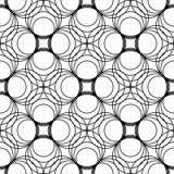 Modello senza cuciture geometrico in bianco e nero con la linea ed il cerchio, Fotografia Stock Libera da Diritti