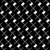 Modello senza cuciture geometrico in bianco e nero, fondo astratto Fotografie Stock