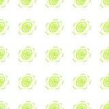 Modello senza cuciture geometrico bianco, verde e giallo illustrazione di stock
