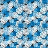 Modello senza cuciture geometrico blu. Fotografia Stock