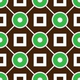 Modello senza cuciture geometrico con gli anelli ed i quadrati Immagine Stock Libera da Diritti