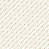Modello senza cuciture geometrico con la griglia diagonale, diamanti dell'estratto dorato di vettore illustrazione di stock