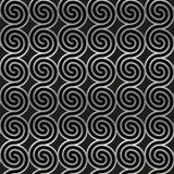 Modello senza cuciture geometrico con le spirali d'argento Struttura astratta del metallo Immagine Stock Libera da Diritti
