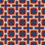 Modello senza cuciture geometrico decorato Immagine Stock