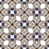 Modello senza cuciture geometrico dell'acquerello di simmetria astratta con struttura delle conchiglie illustrazione vettoriale