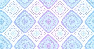 Modello senza cuciture geometrico dell'arcobaleno viola blu nello stile africano royalty illustrazione gratis