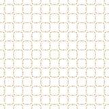 Modello senza cuciture geometrico dell'oro dell'estratto di vettore Ornamento delicato di griglia illustrazione vettoriale