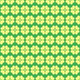 Modello senza cuciture geometrico della primavera del trifoglio Illustrazione Vettoriale