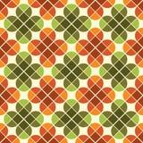 Modello senza cuciture geometrico delle tessere con i fiori stilizzati Immagine Stock