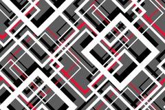 Modello senza cuciture geometrico di contrasto d'avanguardia illustrazione di stock