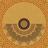 Modello senza cuciture geometrico di X Elementi decorativi della mandala Immagini Stock