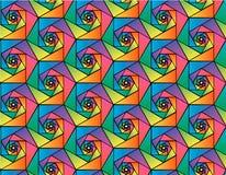 Modello senza cuciture geometrico di vettore astratto degli esagoni del mosaico nei colori dell'arcobaleno Fotografie Stock