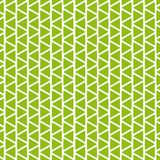 Modello senza cuciture geometrico di vettore Priorità bassa verde e bianca Immagini Stock Libere da Diritti