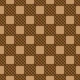 Modello senza cuciture geometrico di vimini astratto Colori di Brown Fotografie Stock Libere da Diritti
