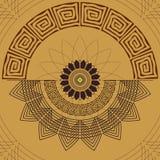 Modello senza cuciture geometrico di X Elementi decorativi della mandala Immagine Stock