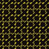 Modello senza cuciture geometrico duro astratto Colori dell'oro e del nero Immagine Stock Libera da Diritti